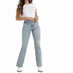 Guess Sky High Bootcut Shimmer Jeans Sz: 27
